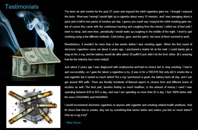 E-cigarette Quit Smoking